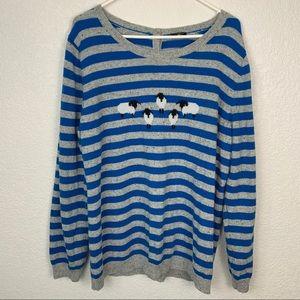 Talbots Striped Sheep Sweater